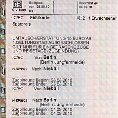 Bahnticket