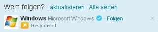 twitter schlägt windows vor