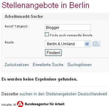 Jobsuche Blogger