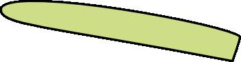 Spargelstange Spitze links