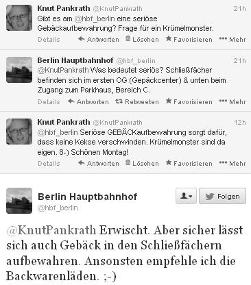 Dialog mit Hauptbahnhof