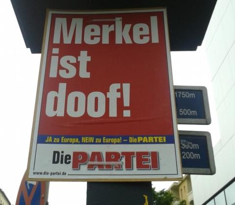 Plakat der Partei