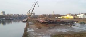 Freybrücke Teilstück vor Einbau